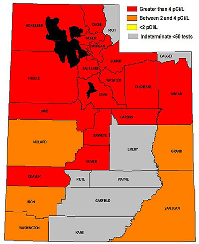 radon map in utah